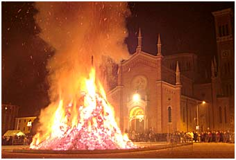 panevin treviso bonfires northeast italy